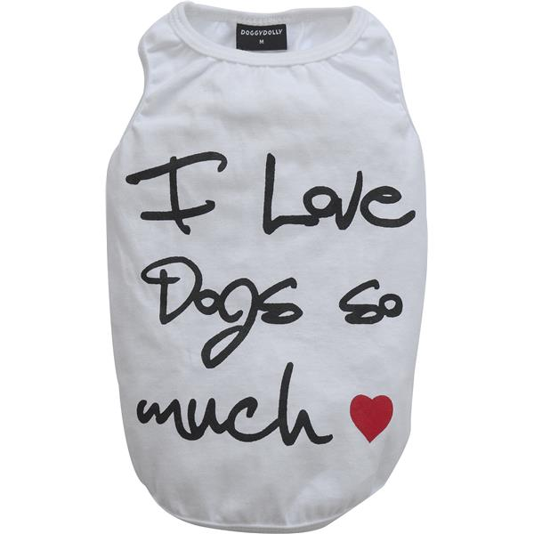 DoggyDolly T563 Shirt I love so much weiß