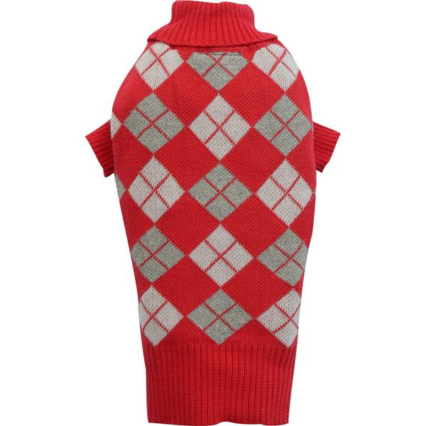 DoggyDolly W273 Strickpullover kariert rot
