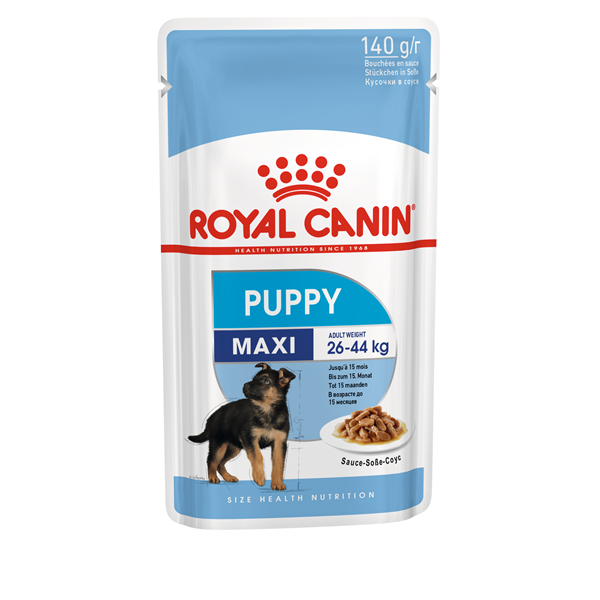 Royal Canin MAXI Puppy in Soße 10er Pack (10 x 140g)