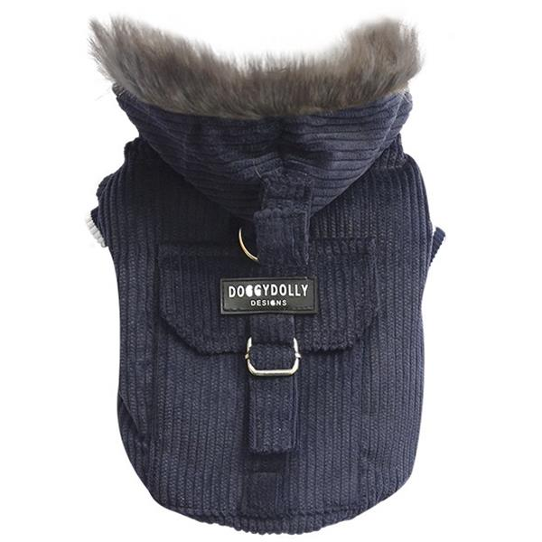 DoggyDolly W023 Winterjacke Cord blau