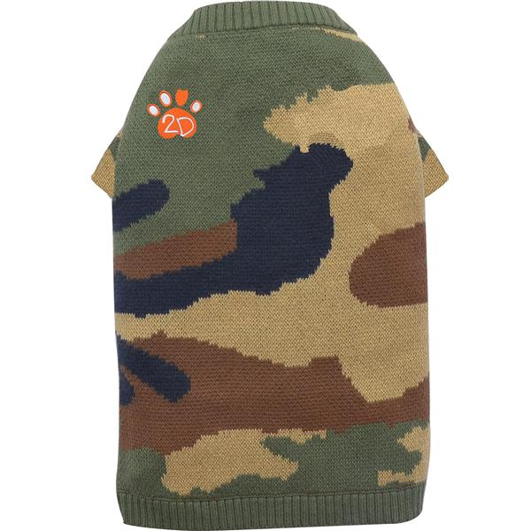 DoggyDolly W355 Strickpullover camouflage Stickerei 2D Pfote