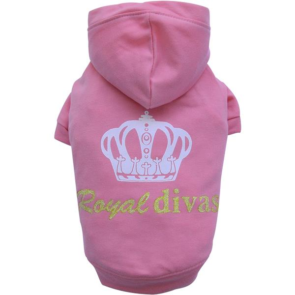 DoggyDolly W231 Kapuzenshirt rosa Royal Divas