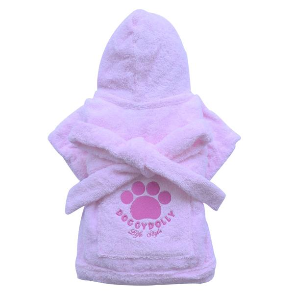 DoggyDolly DRF018 Bademantel rosa