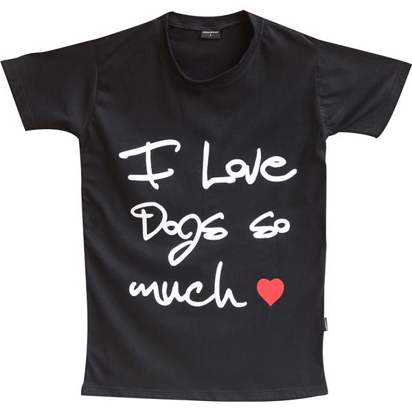 DoggyDolly TH002 HumanShirt I love dogs so much schwarz