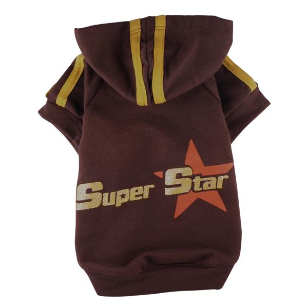 DoggyDolly W030 Kapuzenshirt braun Super Star