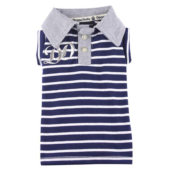 DoggyDolly T295 Polo Shirt gestrei.blau XXS