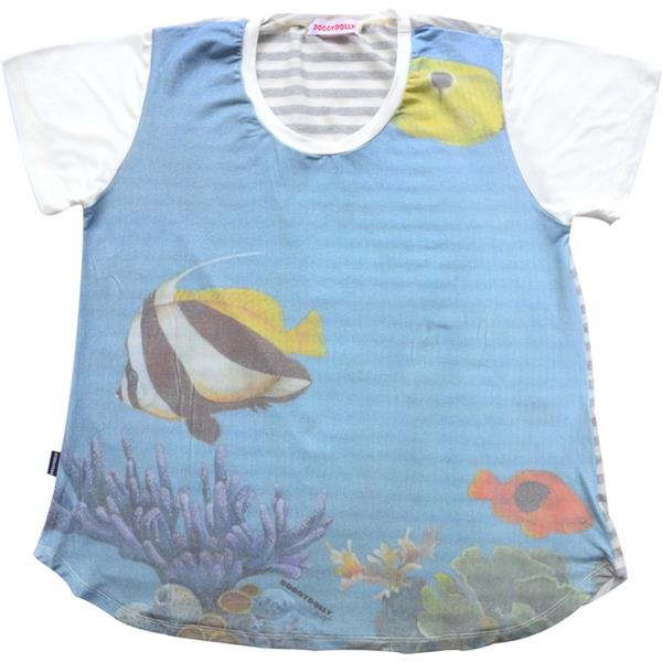 DoggyDolly TH004 HumanShirt Fish freesize Einheitsgröße