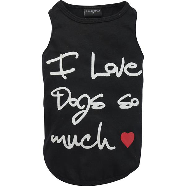 DoggyDolly T564 Shirt I love Dogs so much schwarz