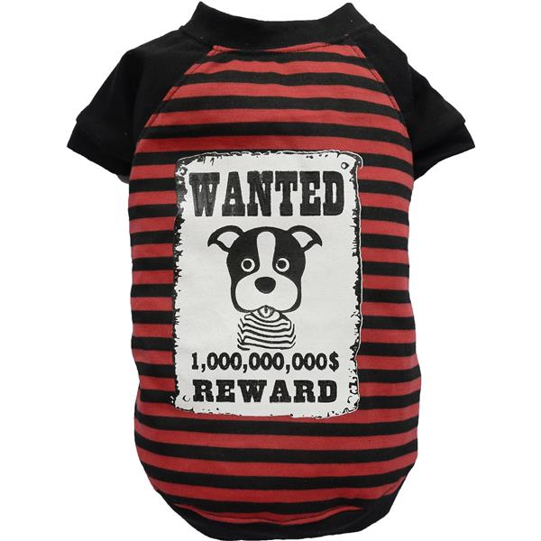 DoggyDolly T518 Shirt WANTED rot/schwarz